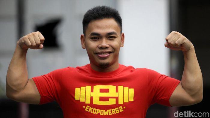 Eko Yuli Irawan menunjukkan peningkatan performa.  (Agung Pambudhy/detikSport)