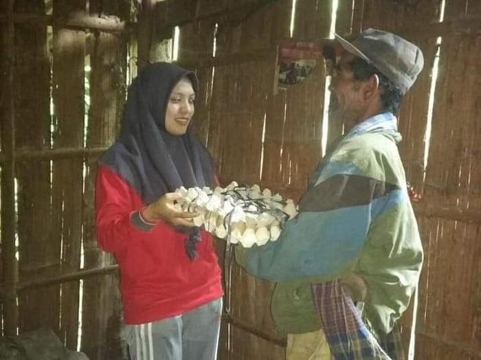 Inspiratif! Berbagi Telur untuk Lenyapkan Kusta di Kabupaten Gowa. Foto: dok. Pribadi