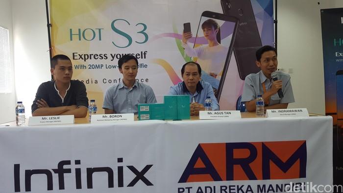 Suasana konferensi pers Infinix (Foto: Muhamad Imron Rosyadi/detikINET)