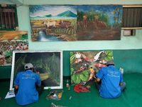 Warga lapas yang memiliki kreativitas di bidang seni juga difasilitasi. (Foto: Ardian Fanani)