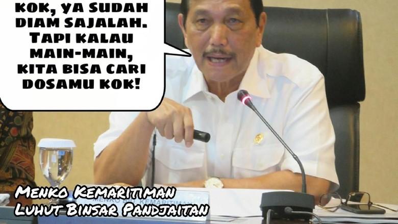 Meme Politik: Panasnya Luhut Ancam Cari Dosa Amien Rais