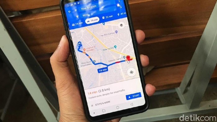 Google Maps menghadirkan fitur janjian di dalam aplikasinya. Foto: Adi Fida Rahman/detikinet
