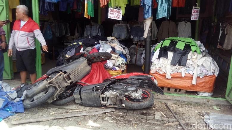 Kecelakaan akibat truk rem blong beberapa waktu lalu Foto: Eko Susanto/detikcom