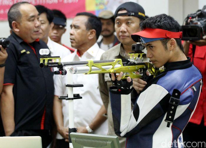 Jelang Asian Games 2018, sejumlah atlet cabang olahraga menembak tengah berlatih keras.
