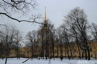 Kota St Petersburg, Rusia saat bersalju (Dina Rayanti/detikTravel)