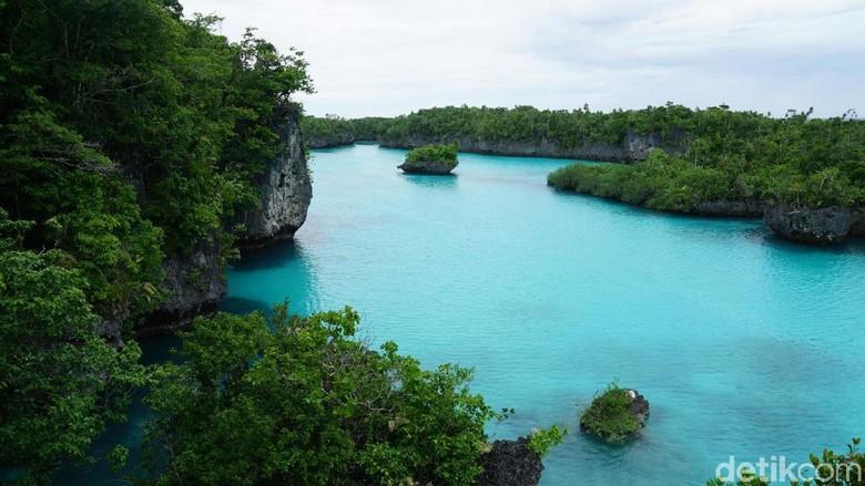 Foto: Laguna tersembunyi Pulau Bair yang cantik banget (Wahyu/detikTravel)