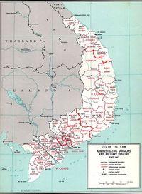Peta Vietnam Selatan.