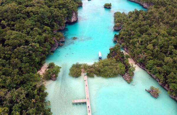 Traveler juga bisa mampir ke Pulau Baer yang menyuguhkan pemandangan tebing karst dan air laut kehijauan. Jangan lupa juga berkunjung ke hutan mangrove di pulau ini yang pastinya instagramable. Foto: (Shendy Aditya/Istimewa)
