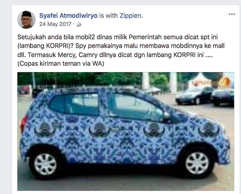 Foto: Facebook/Syafei Atmodiwiryo