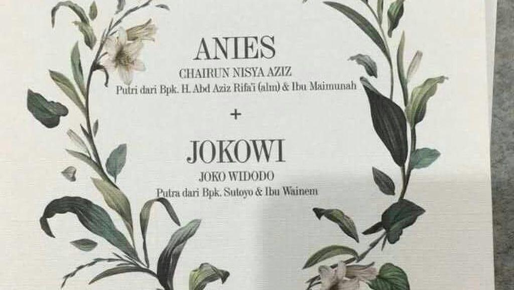Viral Undangan Pernikahan Anies - Jokowi, Ini Kata Anies