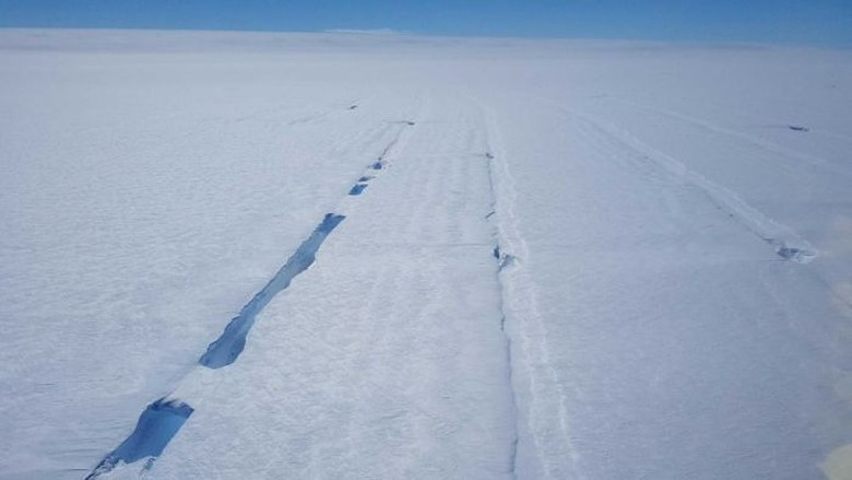 Banyak Bagian Gletser Antartika Terapung, Permukaan Laut Bisa Naik