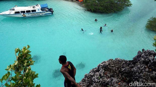 Traveler bisa berenang sampai puas di sini! (Wahyu/detikTravel)