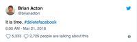 Pendiri WhatsApp Serukan Hapus Akun Facebook
