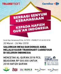 Berbagi Senyum Hafiz Quran Indonesia di Transmart Carrefour