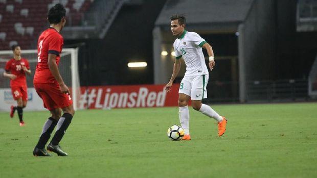 Timnas Indonesia kali terakhir melakoni uji coba melawan Singapura dalam laga tandang.