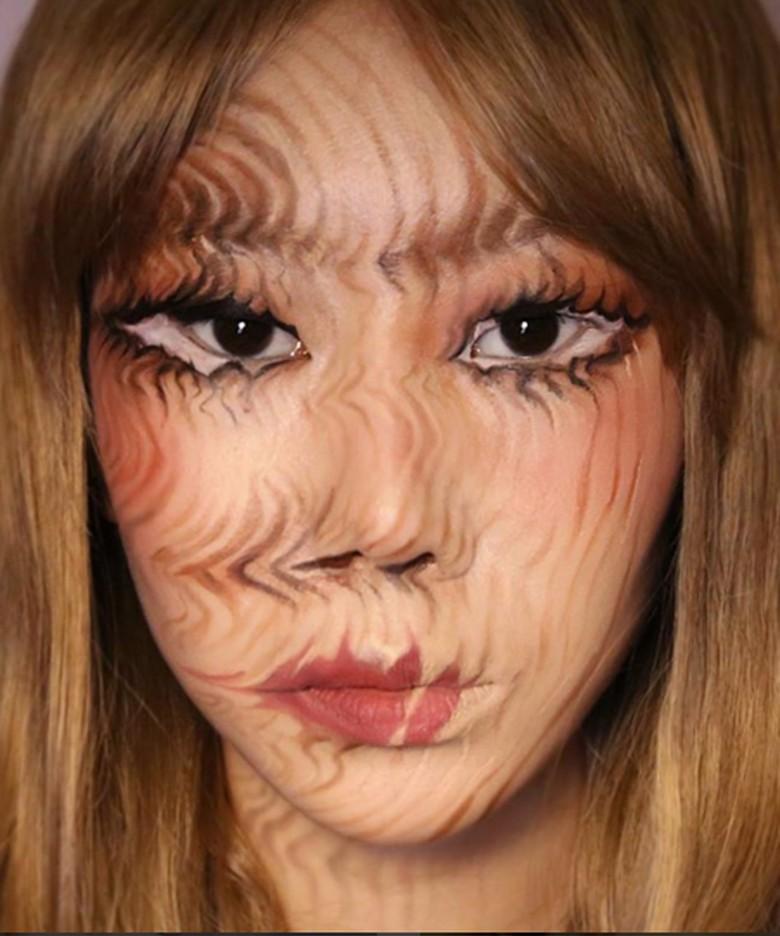 Dengan kemampuan makeupnya yang sangat unik, ia berhasil mencuri perhatian netizen di dunia. (Foto: Instagram)