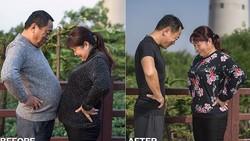 Hanya dengan diet simpel dan berolahraga, Jesse Ding dan ayahnya mampu mengubah perut gemuk mereka jadi sixpack hanya dalam 6 bulan.