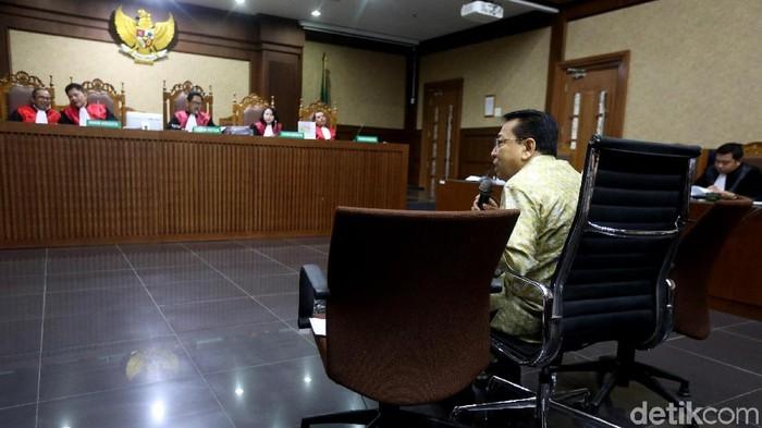 Setya Novanto di Pengadilan Tipikor Jakarta (Foto: Ari Saputra/detikcom)