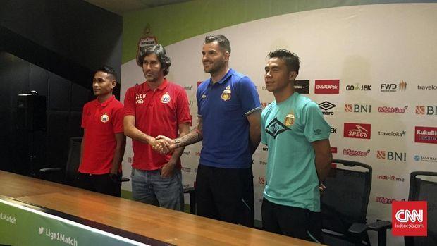 Persija Jakarta dua kali mengalahkan Bhayangkara FC di Liga 2017.