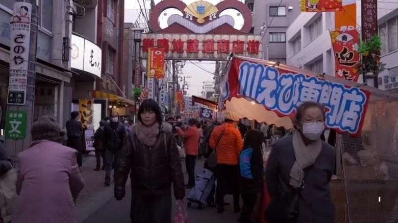 Kawasan Sugamo Jizo Dori di Tokyo (BBC Travel)