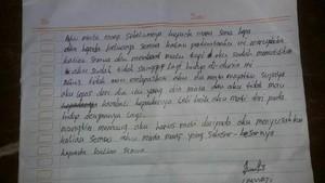 Ida Tulis Surat Perpisahan Sebelum Bunuh Diri: Aku Minta Maaf