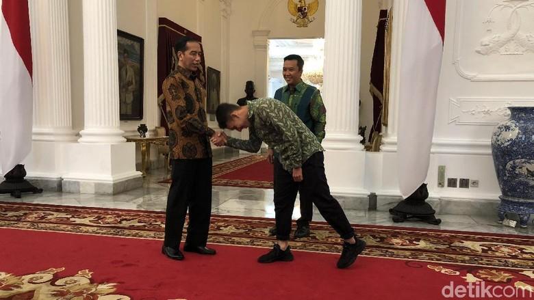Ditemani Menpora, Egy Maulana Vikri Temui Jokowi