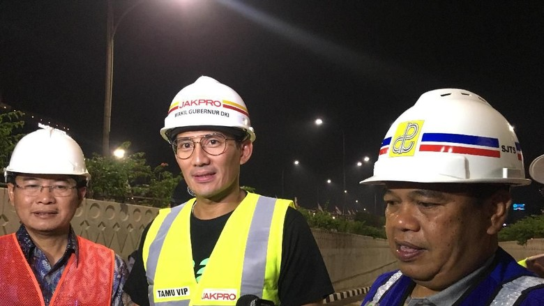 Sandiaga: Underpass Matraman Diuji Coba 1 April
