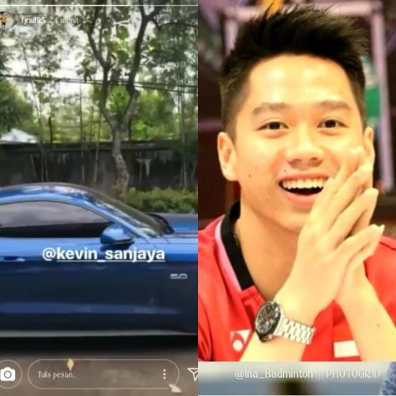 Ford Mustang Kevin Sanjaya. Foto: Screenshot Instagram/ina_badminton
