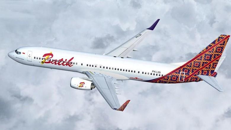 Ilustrasi pesawat maskapai Batik Air (Batik Air)