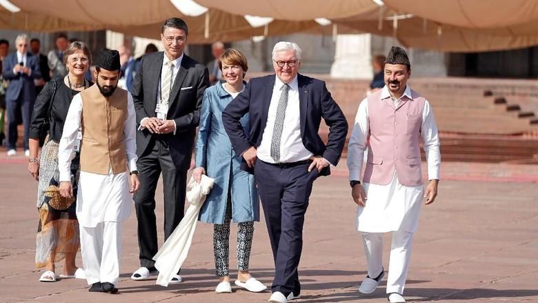 Foto: Presiden Jerman Kunjungi Salah Satu Masjid Terbesar di India