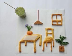 Kreatif! Menu Sarapan Ini Dibentuk Jadi Taman hingga Ruang Tamu