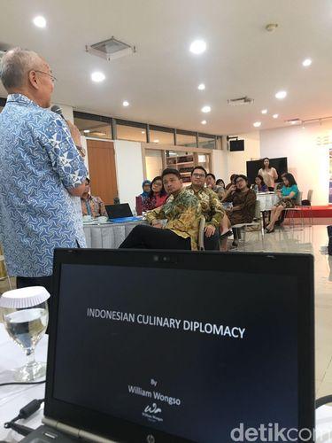 Dia mengatakan cita rasa kuliner Nusantara bisa jadi pemicu kedatangan wisatawan mancanegara ke Indonesia