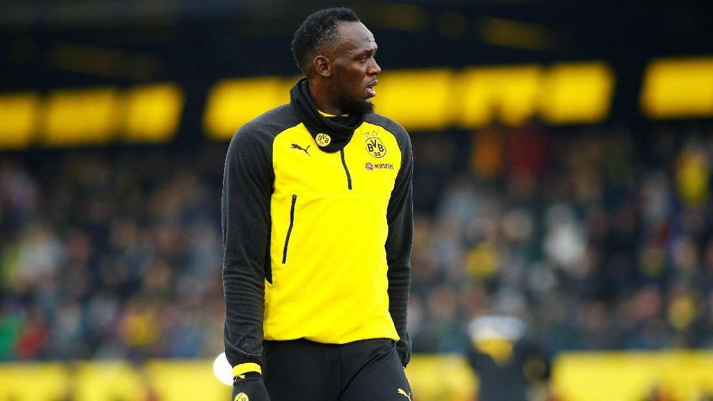 Usai Lihat Aksi Bolt di Dortmund, Ini Kelakar Batshuayi