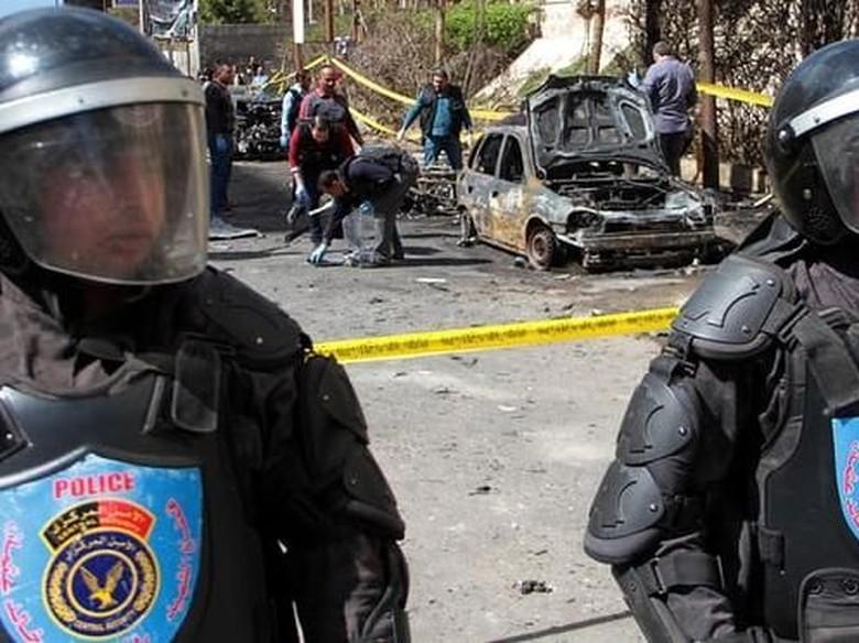 Bom Meledak H-2 Pilpres Mesir, 2 Polisi Tewas