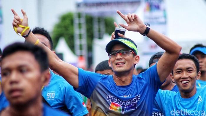 Lomba lari bertajuk Heritage Run digelar di Kota Tua, Jakarta, Minggu (25/3/2018),
