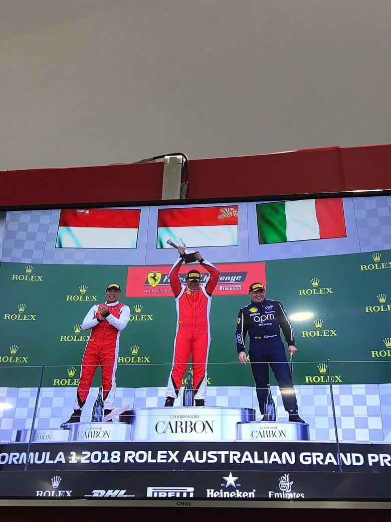 Rama Danindro mempertahankan finish pertama pada race kedua. Di race pertama Sabtu 24 Maret kemarin Rama juga menjadi yang tercepat. Foto: Istimewa
