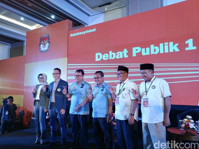 3 Paslon Pamer Visi Misi di Debat Pilwalkot Bandung