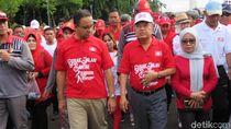 Bareng Anies, JK Lepas Peserta Jalan Santai Keluarga Sulsel