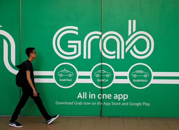 Logo Grab. Foto: Reuters