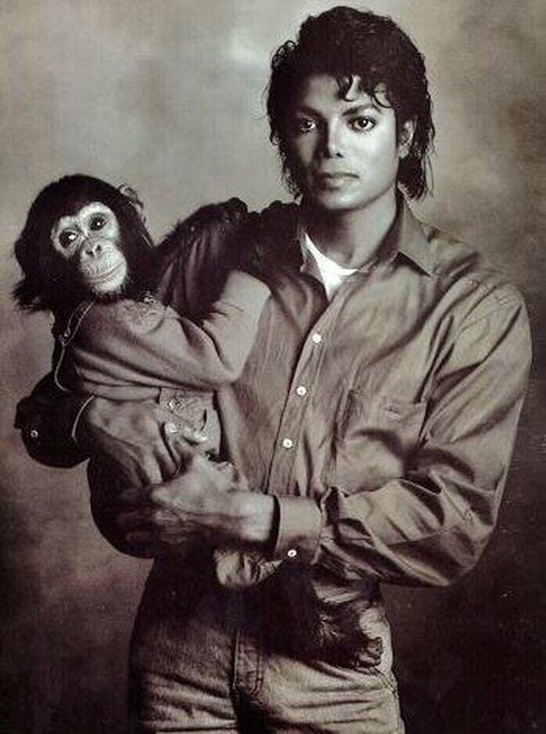 Michael Jackson diketahui memelihara seekor simpanse bernama Bubbles yang lahir pada April 1983. (Dok. Instagram)