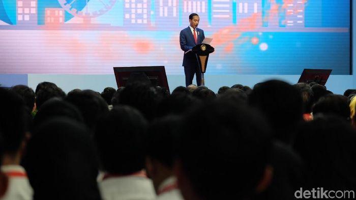 Foto: Jokowi beri arahan ke CPNS (Dika-detikcom)