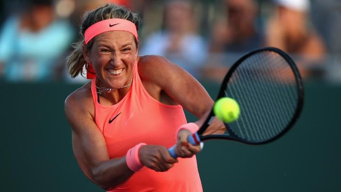Victoria Azarenka mengalahkan Agnieszka Radwanska untuk lolos ke perempatfinal Miami Masters (Foto: Clive Brunskill/Getty Images)