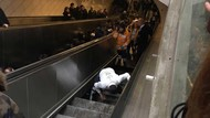 Ngeri! Seorang Pria Tertelan Eskalator di Turki