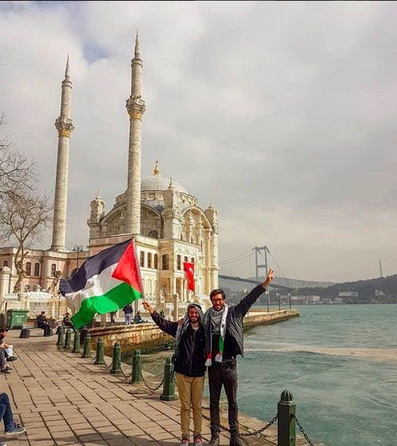 Benjamin memulai aksinya di Gothenburg, Swedia Agustus 2017 lalu. Saat ini, ia berada di Turki (walktopalestine/Instagram)