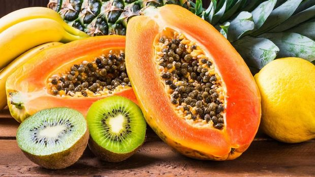 Pepaya dan kiwi, buah yang baik untuk daya tahan tubuh