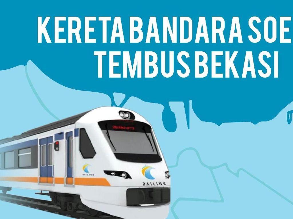 Kereta Bandara Soekarno Hatta Diuji Coba ke Bekasi, Ini Jadwalnya
