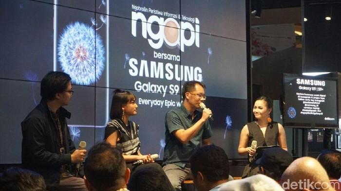 Enche Tjin di acara Ngopi bareng detikINET (detikINET/Achmad Rouzni Noor II)