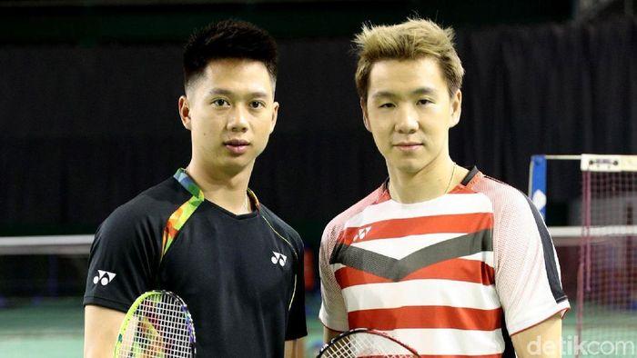 Kevin Sanjaya Sukamuljo (kiri) (Grandyos Zafna/detikSport)