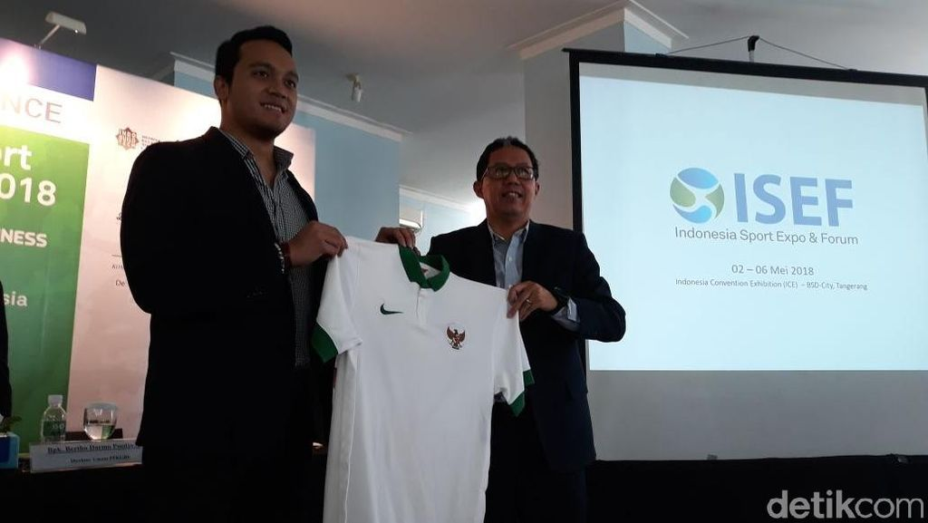 Gandeng PSSI, Pameran Indonesia Sport Expo and Forum Digelar
