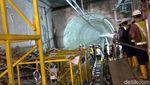 Penampakan Terowongan Stasiun Bawah Tanah Terdalam MRT Jakarta